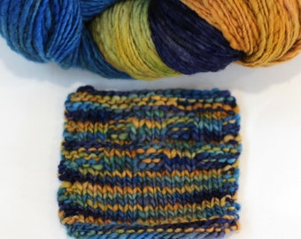 "Hand dyed yarn, handspun yarn, ""Affirmative"" aran weight soft Bailey 100% Merino"