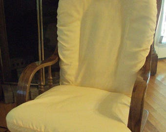 Yellow - Poly Cotton Blend  -Glider Rocker SLIP COVER For Your Cushions  - Family Room or Nursery