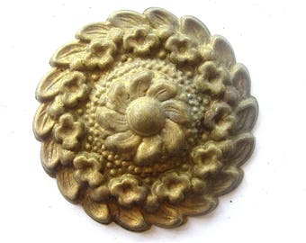 Brass Flower with Ginerbread Patina