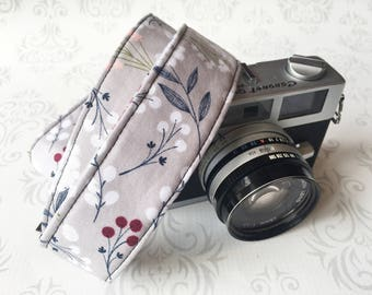 Skinny Camera Strap, Basic DSLR Camera Strap, Padded, Photographer, Nikon or Canon Camera, Binocular Strap, Photographer Gift - Wildflowers