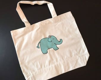 Large Petunia the Elephant Tote Bag