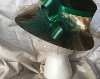 Velour Hat , Hand Embellished