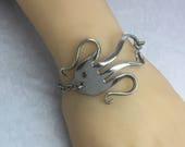 Fish Fork Bracelet, Silverware Jewelry, Fork Jewelry, Nautical Bracelet