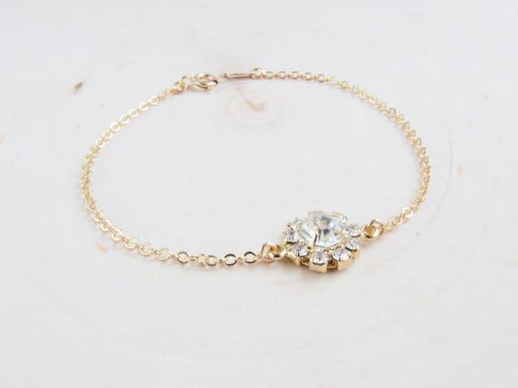 Gemstone Bracelet | Flower Jewelry | Dainty Bracelet | Layering Bracelet | Holiday Bracelet | Gift for Her | Christmas Gift for Her
