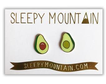 Avocado Earrings - Large - Gold Plated Sleepy Mountain Studs