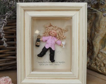 DOUBLE Character Frames Custom Made Polymer Clay Professions