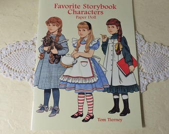 Paper Doll Booklet: Favorite Storybook Characters, By Tom Tierney, 1997. New Condition.