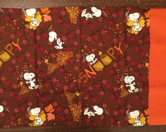 Snoopy Fall travel pillow case/toddler pillow case 100% cotton