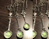 Artemisia Absinthe Spoon Silver Steampunk Necklace