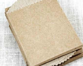 Kraft Mini Bags (50) * 2 5/8 x 3 7/8 * mini kraft envelopes * business cards * scrap booking * arts and crafts