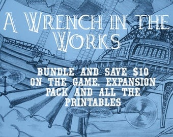 Steampunk Murder Mystery Game A Wrench in the Works Bundle
