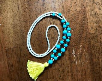 Bright Lights Tassel Necklace