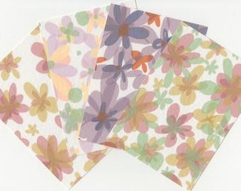 Postcard Set // Art Postcards // A6 Pop Art Flower Print Notecards