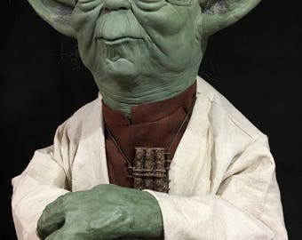 Handmade Life Size Yoda Display Prop Star Wars Jedi Empire Strikes Back