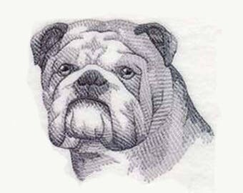 English Bulldog Tea Towel | Dog Kitchen Towel | Dog Lover Gift | Embroidered Tea Towel | Personalized Dish Towel | Embroidered Kitchen Towel