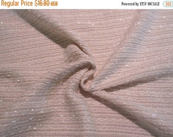 ON SALE REMNANT--Off White with Lurex Cotton Blend Tweed Fabric--2 Yards