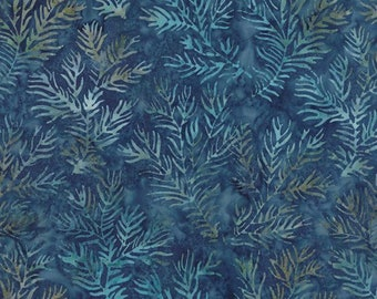 Snowbird Batiks by Laundry Basket Quilts - Cold Blue (42180-65) - Moda - 1 Yard