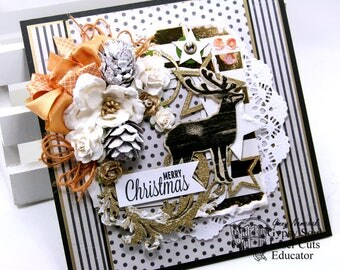Merry Modern Christmas Greeting Card Polly's Paper Studio Handmade