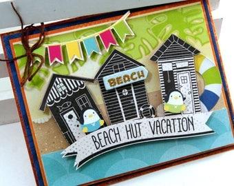 Beach Hut Vacation Greeting Card Polly's Paper Studio Handmade