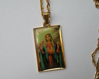 Madonna Religious pendant with chain