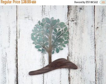 ON SALE Tree Of Life Metal and Wood / Tree Wall Art / Tree Of LIfe / Tree Of Life Wall Decor