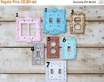 ON SALE Light Switch Cover~Outlet~GFI~Shabby Chic Light Switch Cover ~Light Plate~Double Light Switch / Shabby Chic Nursery