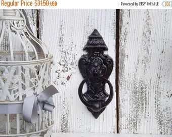 ON SALE Old World Door Knocker / French Cottage / Old World  / Cast Iron Door Knocker / Oil Rubbed Bronze