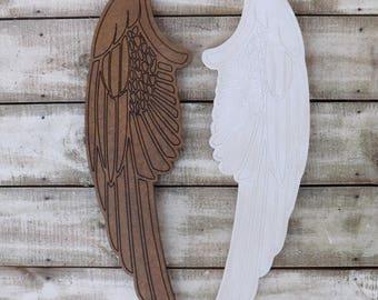 Wood  Angel Wings ~ Angel Wings~White  Angel Wings Wall  Decor~Nursery ~Angel Wings