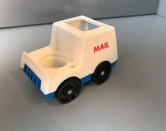 Vintage Fisher Price Little People Mail Truck