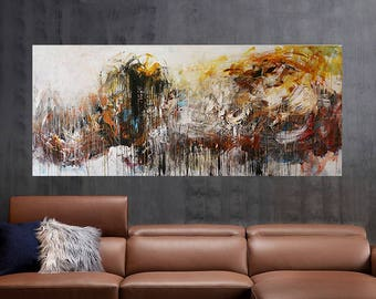 Large Canvas Art,72X30,painting on canvas, Abstract painting,Original Painting,Acrylic Painting,art painting, canvas art,