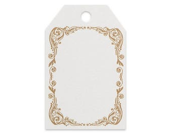Scroll Border Printed Gift Tags - 2 1/4 x 3 1/2 - 50 Pack