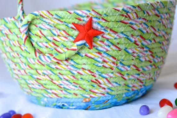 Boy Easter Basket, Handmade Green Easter Basket, Keepsake Easter Basket, Easter Egg Hunt Bucket, Easter Egg Hunt Bag