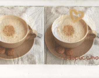coffee cappuccino mug 3314 - 1 paper towel