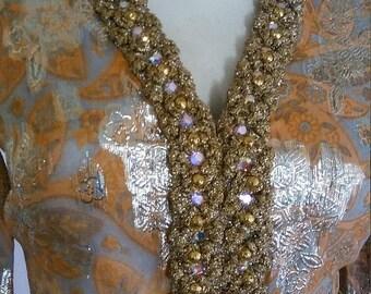 50% SUMMER SALE 1950's Vintage Gold LAME dress metallic Saks Fifth Avenue prom dress orange beaded jeweled vintage hostess mod dress size sm