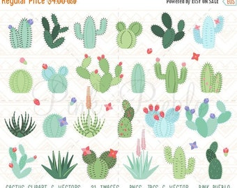 BACK TO SCHOOL Sale Cactus Clipart, Cactus Clip Art, Tribal Clipart, Tribal Clip Art, Succulent Clipart Clip Art - Commercial and Personal U