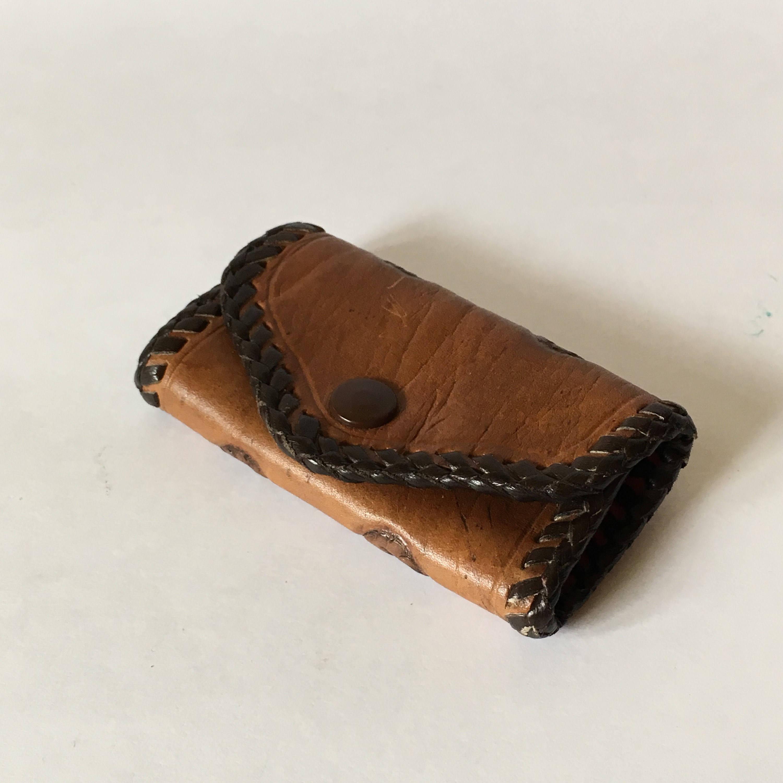 Credit Card Holder leather Business Card Holder Orange Leather