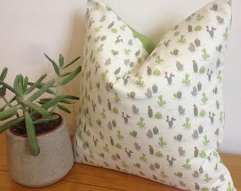 ditsy cactus cushion cacti pillow cactus throw pillow succulent pillow botanical pillow botanical cushion plant cushion new home gift