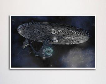 "Star Trek (2009) word art print - 11x17"""