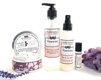 Lavender & Rose Collection - Body Hygiene Spa Set