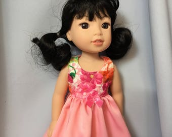 14.5 Inch Doll Clothes Pink Long Nightgown for dolls like Wellie Wishers