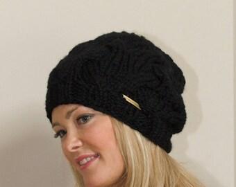 Slouchy Hat Women Slouchy Beanie Women Black Beanie Hat Winter slouchy hat CHOOSE COLOR Black Chunky Beanie Christmas Gift