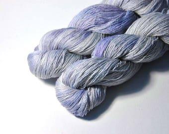 SAKURA Silk Merino Lace in Silver Star - One of a Kind