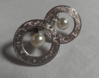 Silver and Pearl Cufflinks, circa 1940's