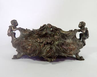 French Antique Metal Jardiniere (Planter) Rococo
