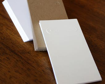 Blank Earring Cards 2 inches by 3.5 inches