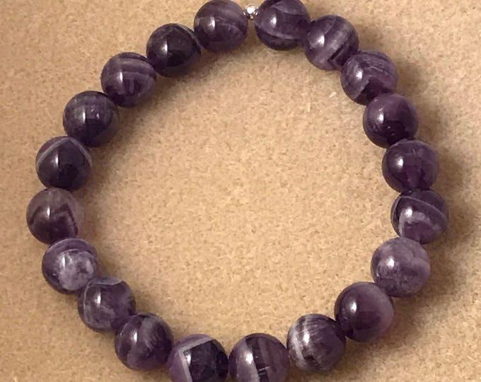 Auralite 23 Bracelet, Auralite-23 Bracelet, 10mm Stretch Bead Bracelet, Yoga Bracelet, Meditation Bracelet