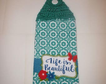 crochet towel, crocheted towels, doublesided towel, summer , spring, mothers day gift