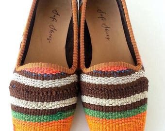 Women vintage Kilim loafer Handmade - Free shipping by DHL-39 Euro size