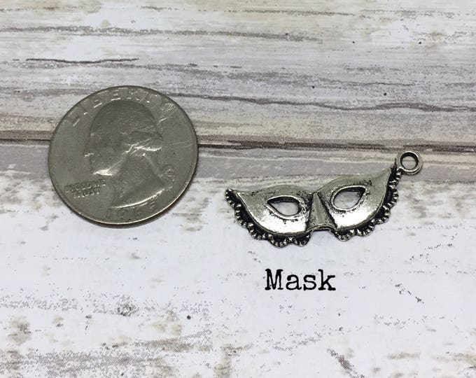 Mask charm necklace