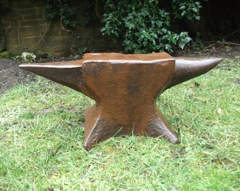 Antique 1800's English Yorkshire pattern double horn Blacksmith's Anvil 100Kg
